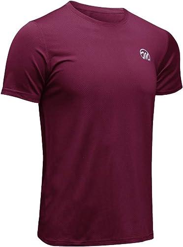 MEETWEE T-Shirt de Sport Homme, Baselayer Manches Courtes Maillot Running Tee Shirt Vetement de Fitness Gym