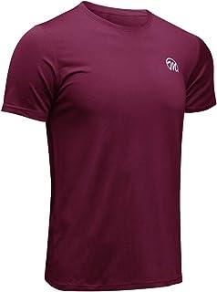 MEETWEE Sportshirt Herren, Laufshirt Kurzarm Mesh Funktionsshirt Atmungsaktiv Kurzarmshirt Sports Shirt Trainingsshirt fürMänner