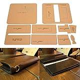 Kit de plantilla de billetera de cuero de fabricación de acrílico transparente para arte...