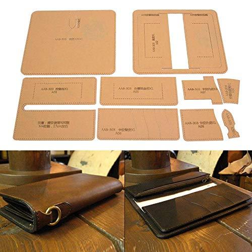 Kit de plantilla de billetera de cuero de fabricación de...