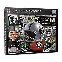YouTheFan NFL Las Vegas Raiders Retro Series Puzzle - 500 Pieces, Team Colors, Large