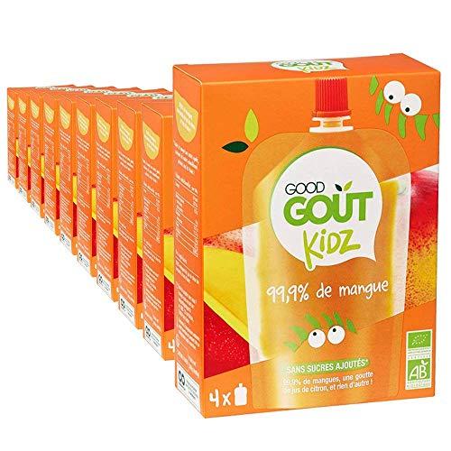 Good Goût Kidz - BIO - 40 gourdes 90g Fruits Mangue dès 3 ans - pack de 10x4