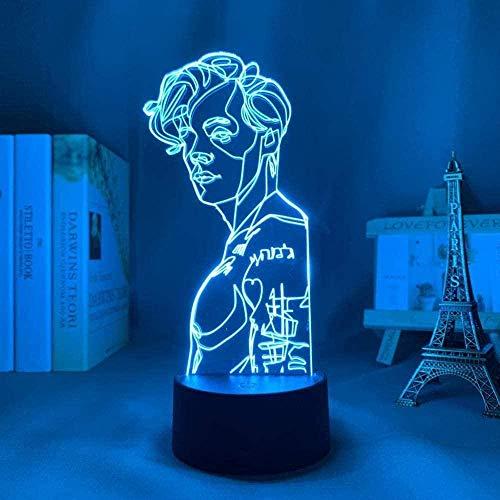 3D lámpara visual Harry Styles A Mood Lámparas 16 colores LED luces con interruptor táctil para niños regalos decoración dormitorio