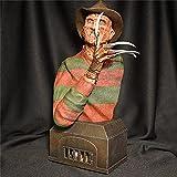Halloween Dekorationen Indoor Figur, Horrorfilm Halloween GNOME Skulptur, Michael Myers Statue, Halloween Dekorationen Räumung, Gartenzwerge für Halloween Party Home Decor-Freddy Krueger