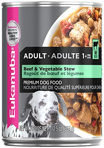 EUKANUBA Adult Beef & Vegetable Stew Canned Dog Food, 12.5 oz Can (Case of 12)