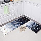 Alfombrilla Antideslizante para Cocina con Estampado de Frutas en 3D, Alfombra geométrica Moderna para la Puerta del Dormitorio de la Sala de Estar, Alfombra Lavable para baño A10 40x60cm