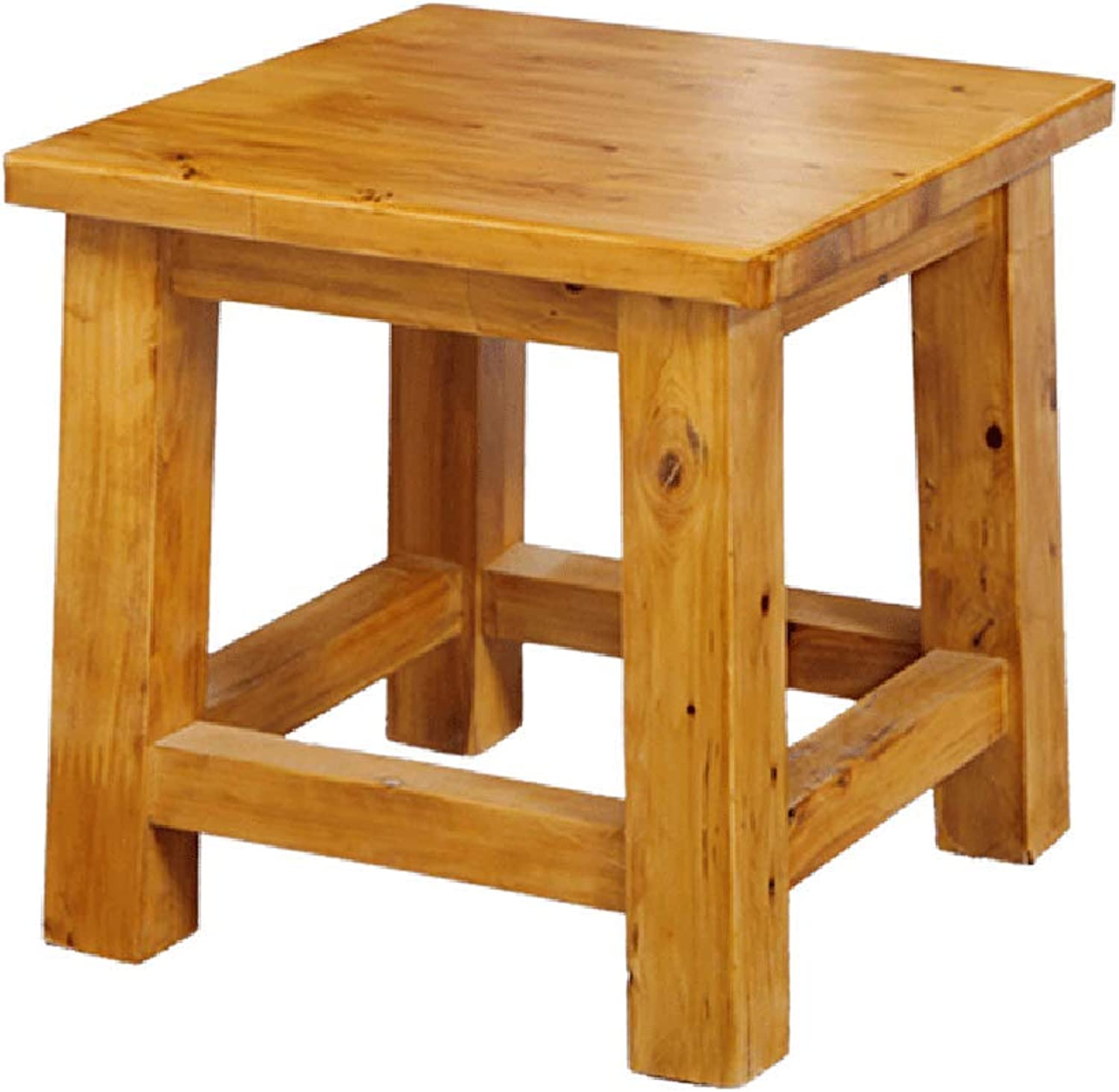 ZHANGQIANG Roll Over Image to Zoom in Premier Housewares Rubberwood Round Stool (color   Wood color, Size   25  25  25)