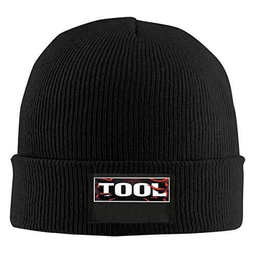 Vintage Tool Band 2q Unisex Mens Winter Knitting Wool Warm Hat Daily Slouchy Hats Beanie Skull Cap Black