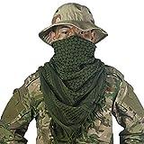 OneTigris - Pañuelo palestino de algodón, kufiyya para Cubrir la Cabeza Durante Operaciones tácticas en el Desierto, para Hombre y Mujer (Verde)