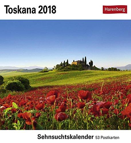 Toskana - Kalender 2018: Sehnsuchtskalender, 53 Postkarten