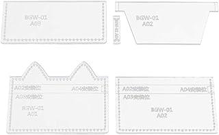 Kawn 5pcs Clear Acrylic Purse Stencil Template Handmade Leather Wallet Card Bag for Women Girl