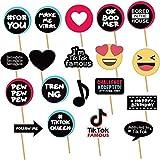 19 accessori per cabina fotografica per decorazioni a tema TIK Tok, ideali per feste di compleanno, feste di social media, feste di compleanno, riunioni sociali