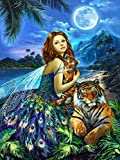 Yingxin34 Puzzles for Adults 4000 Piece | Jigsaw Puzzle | Fairies and Tigers Puzzles Puzzle Game-Large Puzzle Game Artwork for Adults Teens 141x88cm