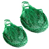 Lantelme 2 Stück Einkaufsnetze Baumwolle Set Wiederverwendbare Einkausftasche für Obst Gemüse Umweltschonende Tasche 6732