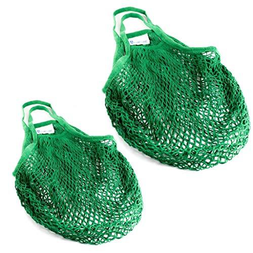 Lantelme Einkaufsnetz 2 Stück aus Baumwolle Set nachhaltig umweltfreundliches...