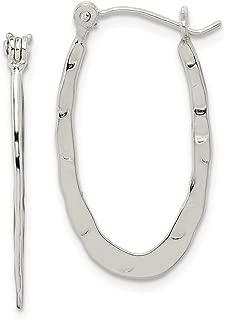 925 Sterling Silver Hammered Hoop Earrings Ear Hoops Set Fine Jewelry Gifts For Women For Her