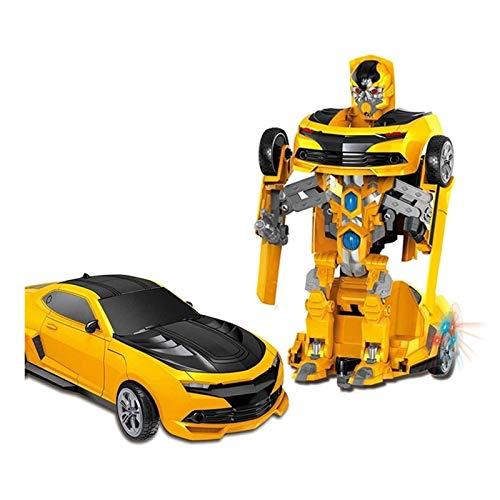 JIALI de deformación Juguetes Radio Control Deformación Transformar el Juguete de Robot de Coche para niños como Regalo para niños y niñas