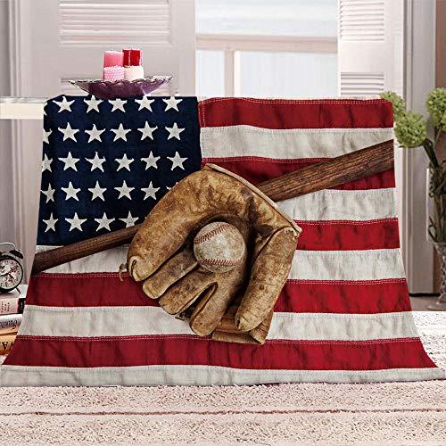 Kuscheldecke Flanell Fleecedecke Flagge der Vereinigten Staaten Decke Jet-Print Mikrofaser Creation Tagesdecke, Super Weiche Warme mit Zweiseitige Sofadecke, Reisedecke für Erwachsene Und Kinder