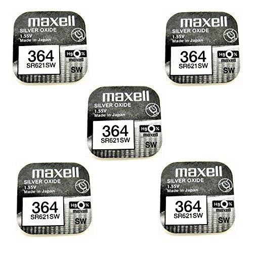 Maxell Knopfzelle 364, SR621SW, Ag1, ideal für Taschenlampe, Uhr, Taschenrechner, Kamera, Fernbedienung, Spielzeug uvm.