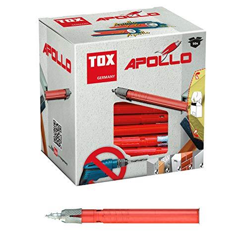 TOX Allzweck-Rahmendübel Apollo 8 x 120 mm, 50 Stück Dübel und 50 Schrauben, 049101151