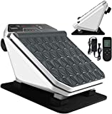 Foot Muscle Massager Machine-Electric Foot Massage Deep Relax Muscle Massage Foot Pain Relief for Foot/Sole/Calf, 30 Speed Vibrate with Remote Control&LCD Display for Elder/Grandparents