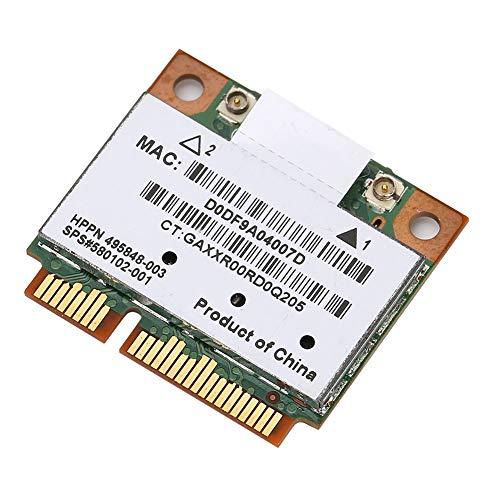 Kafuty Scheda di Rete AR5BHB92 Dual Band 2.4G / 5Ghz Scheda di Rete 300Mbps WiFi Mini PCI-E Wireless per Il trasferimento di File, la Navigazione in Internet e Il Download di Musica, ECC.