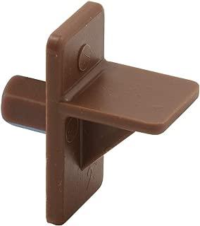 Shelf Support Peg, 5 mm Diam. Peg, Brown Plastic,(Pack of 12)