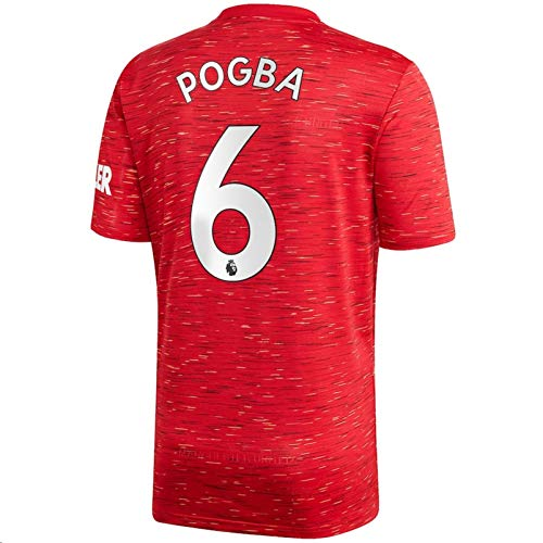 Jertinhf 2020-2021 Men's Home Soccer Jersey/Short Colour Red (Manchester United Pogba #6 (3XL))