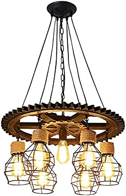 Vintage Luces Loft 7 Colgantes Retro Fairy Tea Industriales nXNPOkZ80w
