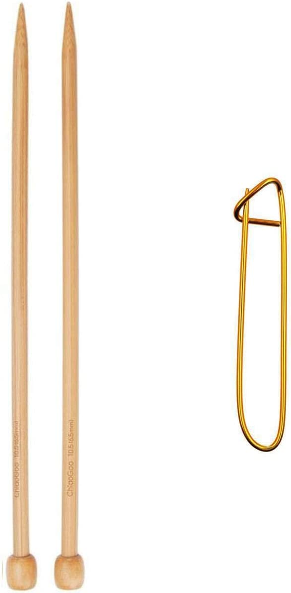 ChiaoGoo Knitting Needles Straight 12 30cm At the price of surprise Bamboo Cheap mail order shopping inch Natural