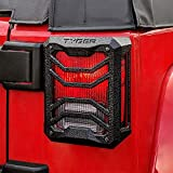 Tyger Auto TG-TG7J83338 Tail Light Guards Covers Compatible with 2007-2018 Jeep Wrangler JK (Not for JL) | Textured Black | Cast Aluminum Alloy | Powder Coated