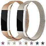 Onedream Bracelet Compatible pour Fitbit Alta/Alta HR Bracelets Femme Homme 2 Pack Remplacement Acier Band (Pas de...