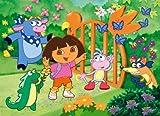 Clementoni Dora la Exploradora - Puzzle de 60 Piezas