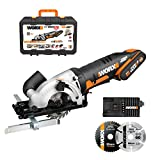 WORX 20V Cordless Circular Saw WX527.1, PowerShare, 2.0Ah, Parallel Guide, TCT 24T Blade, Blade 85mm, Maximum...