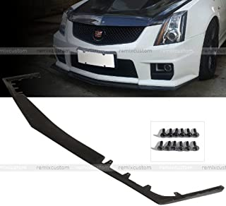 Remix Custom Hennessey Style PU Front Body Bumper Lip Spoiler Kit Compatible with 09-13 Cadillac CTS-V