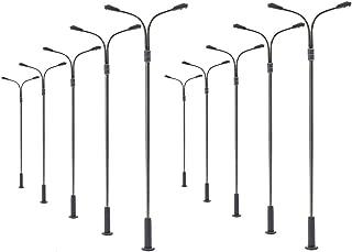 Evemodel 10pcs Model Railway Train Lamp Post Street Lights HO OO Scale LEDs (Type C)