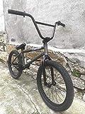 Fitness Deportes al aire libre Bicicleta de BMX Freestyle de 20 pulgadas Cuadro de acero Hi-Ten Tren de transmisión de una sola velocidad Pedales de nylon 20 X 2.3 Neumáticos montados en llantas do