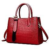 L-sister Bolsos de mensajero, bolsos de hombro, bolsos de señora, capacidad magnánima, estilo único (color: rojo, tamaño: mediano)