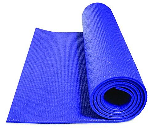 GoFit LLC Double-Thick Yoga-Matte, Blau, OS