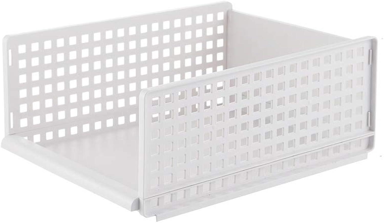 Kitchen Storage Basket, Bathroom Storage Basket Plastic [Hollow] White Living Room Bedroom Multifunctional Storage Basket-A