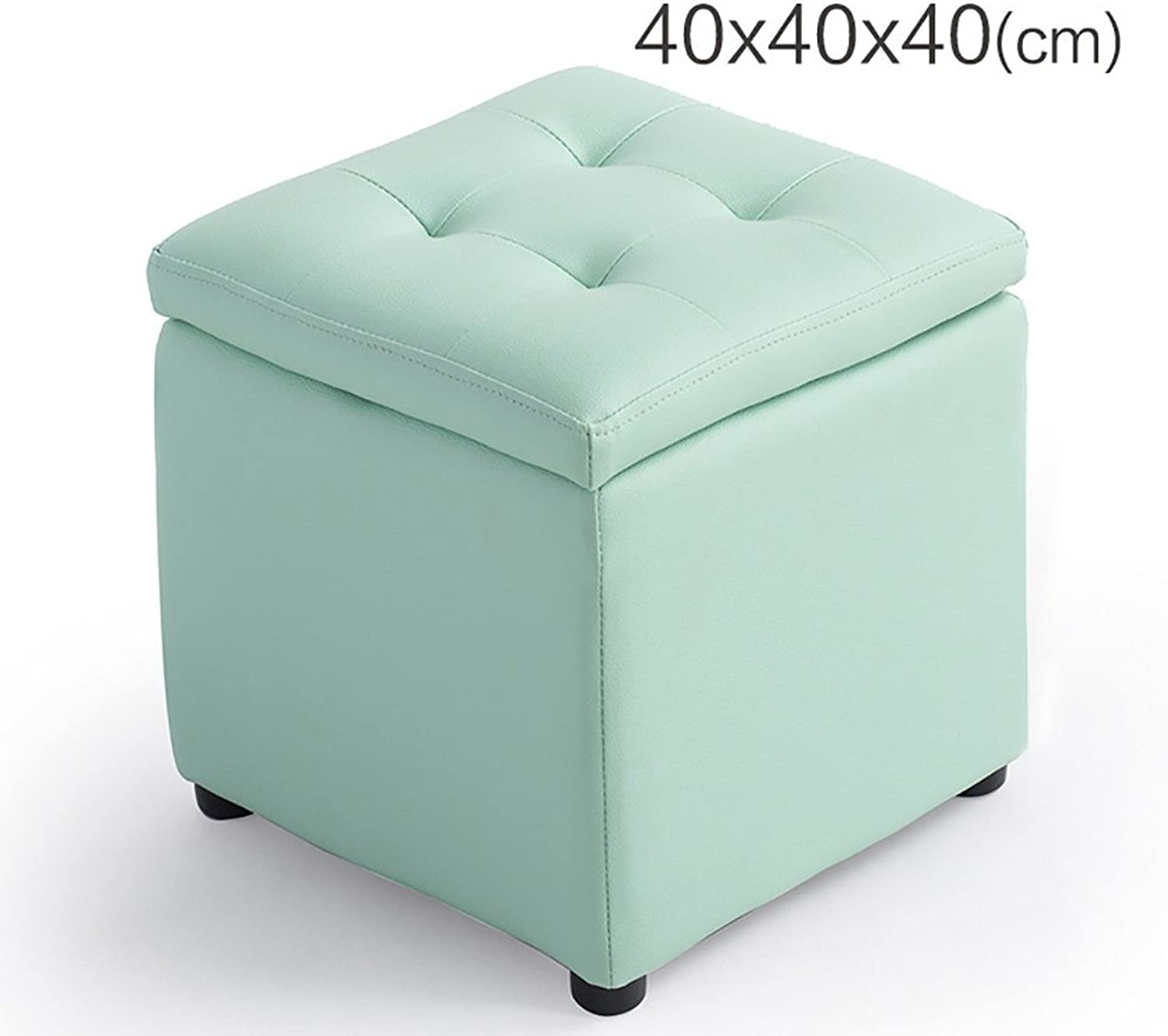 AIDELAI Bar Stool Chair- Storage Stool Stool Stool shoes Stool Hall Sofa Stool Storage Stool Stool Footstool shoes Stool Small Stool Saddle Seat (color   F, Size   40  40  40cm)