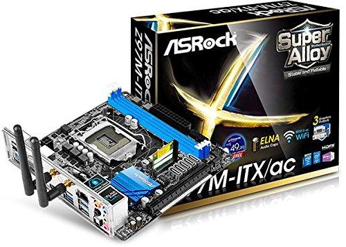 Asrock Z97M-ITX/AC S1150 Mainboard Sockel (Mini-ITX, Intel Z97, 2X DDR3-Speicher, 6X SATA III, 2X USB 3.0)