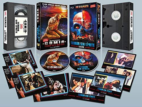 Gomia, Terror en el Mar Egeo BD + Terror sin Límite BD estuche VHS con 8 Postales en Edición Limitada Numerada de 1000 ejemplares
