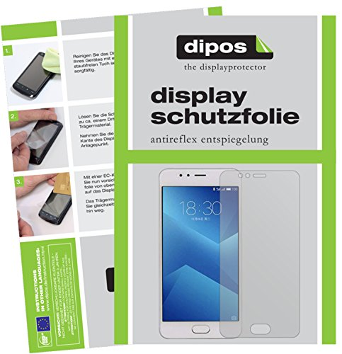 dipos I 2X Schutzfolie matt kompatibel mit Meizu M5s Folie Bildschirmschutzfolie
