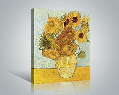 1art1 Vincent Van Gogh - Los Girasoles, 1888 Cuadro, Lienzo Montado sobre Bastidor (50 x 40cm)