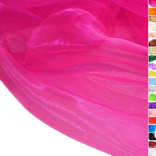 TOLKO Meterware | Organza Dekostoff - Hauch Zart/Durchsichtig als Stoff zum Nähen, Drapieren oder Basteln (Pink)