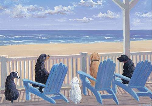Dogs on Deck Chairs Notecards