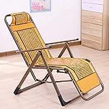 Tumbonas - Sillas Plegables Ligeras de Verano, Ajustables con sillas reclinables tapizadas para Acampar para el Almuerzo, Ocio, Silla de Maternidad para Ancianos