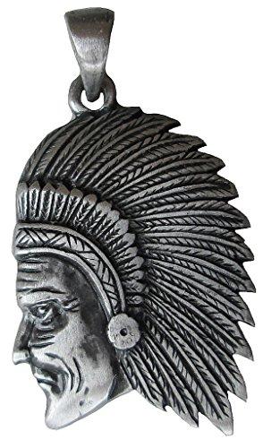 TICILA - Ciondolo unisex da uomo e da donna, in stile indiano, colore argento antico