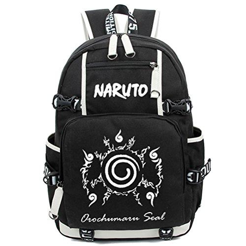 yoyoshome Naruto Anime Uzumaki Naruto cosplay Luminous Messenger Bag Rucksack Schule Tasche schwarz Naruto3